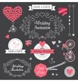 set wedding vintage hand drawn invitation vector image vector image