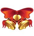 Golden Christmas Bell4 vector image