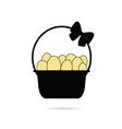 egg in basket vector image