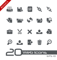 Web Interface Basics Series vector image vector image