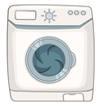 cartoon appliences washing machine vector image