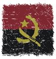 Flag of Angola handmade square shape vector image