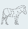 horse line art vector image