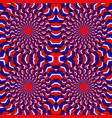 hypnotic of rotation perpetual rotation vector image