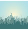 Modern city skyline silhouette vector image