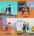professions case design concept vector image
