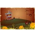 Scary Halloween Night vector image