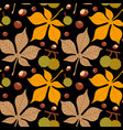 seamless pattern with autumn leaves and vector image