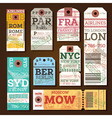Retro Baggage Tags vector image