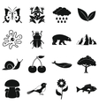 Nature items icons set simple style vector image
