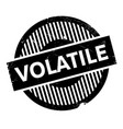 volatile rubber stamp vector image
