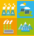 set of icons representing ecology environment vector image