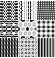 9 Great patterns Set 2 vector image vector image