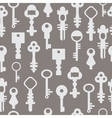 Pattern retro keys vector image