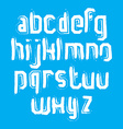 stylish brush lowercase letters handwritten font vector image