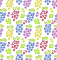 Seamless Pattern with Colorful Bunches of Grape vector image vector image