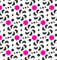 3d ornament with black and pink on white vector image