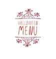 Halloween menu - typographic element vector image