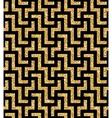 golden oriental swastika pattern vector image