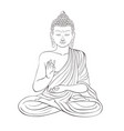 gautama buddha with raised right hand on vector image