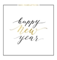 Happy New Year gold text isolated on white vector image