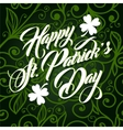 Patrick day lettering greeting card vector image