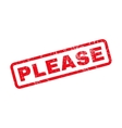Please Rubber Stamp vector image