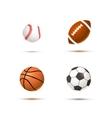 Set of realistic sport balls for soccer vector image