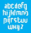 stylish brush lowercase letters handwritten font vector image