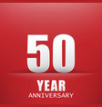 the red backgroundfifty years anniversary vector image