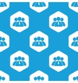 User group hexagon pattern vector image