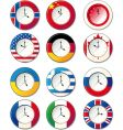 world clock vector image vector image