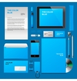 Blue Corporate ID mockup vector image