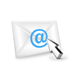 email and mouse cursor pointer vector image vector image