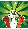 revolution hand poster vector image