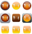Dinner orange app icons vector image vector image