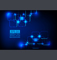 blue light technology abstract background vector image