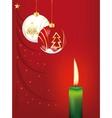 Christmas balls and candle vector image
