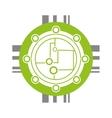 circuit electronic sphere hardware vector image