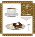 Cup of coffee and cakes vector image