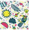cute colorful summer tropical pattern vector image