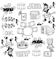 Doodle of music set stock vector image