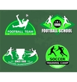 football logo set vector image