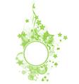 green banner vector image
