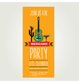 Invitation Mexican partyTypography vector image