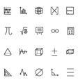 Mathematics Icons 2 vector image