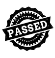 Passed stamp rubber grunge vector image