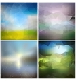 Set of blurry backgrounds Abstract geometric vector image