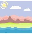 Pink an blue morning landscape vector image