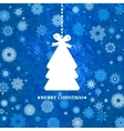 Decorated blue Christmas tree EPS 8 vector image
